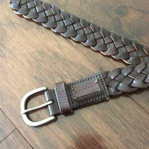 Aeropastle brown braided belt